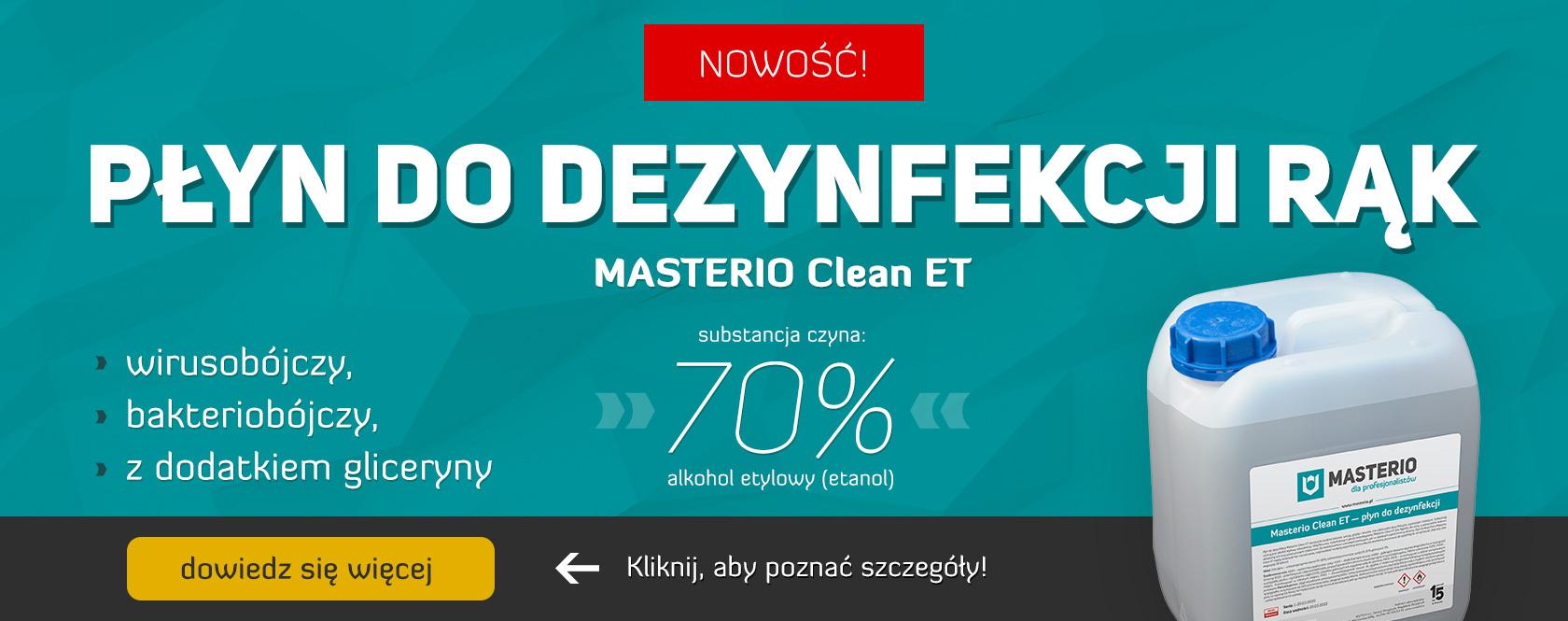 Płyn do dezynfekcji Masterio Clean ET