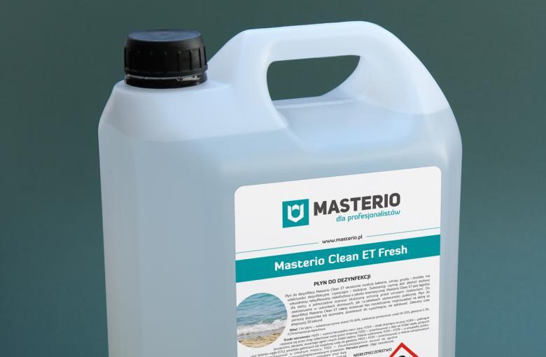 Zapachowy płyn do dezynfekcji dłoni i powierzchni Masterio Clean ET Fresh