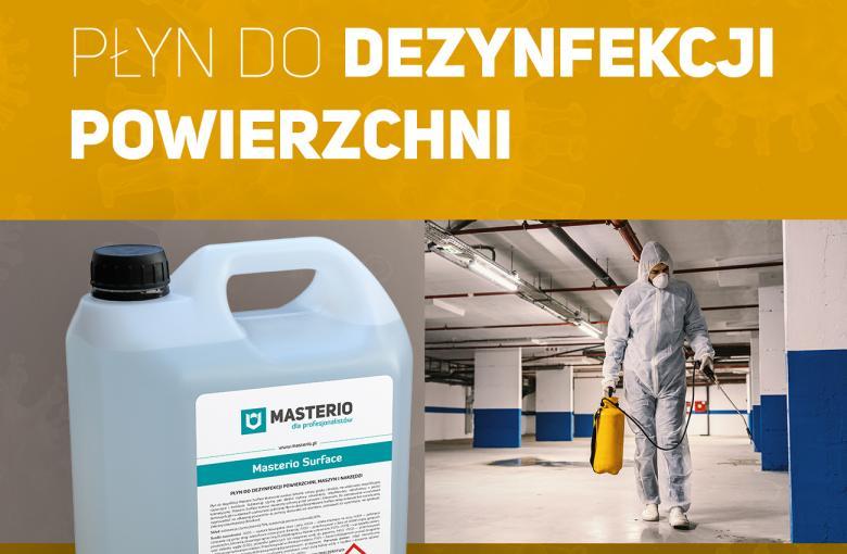 Płyn do dezynfekcji powierzchni - Masterio Surface 5 L, kanister