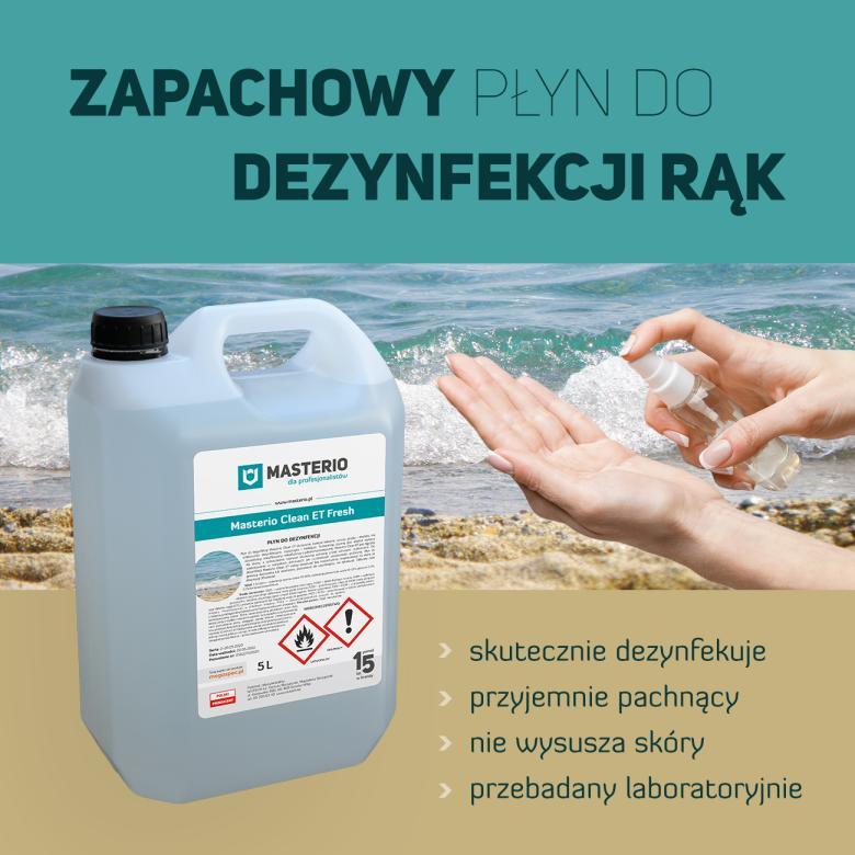 Płyn zapachowy do dezynfekcji rąk Masterio Clean ET Fresh