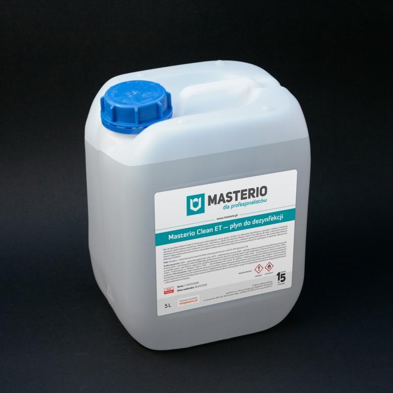 Płyn dezynfekujący do rąk, dłoni, powierzchni Masterio Clean ET