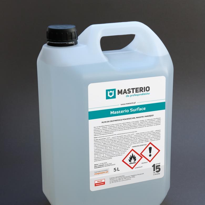 Płyn do dezynfekcji powierzchni, maszyn, urządzeń Masterio Surface, 5-litrowy